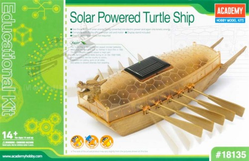 Solar Power Antique Korean Turtle Ship