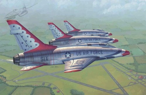 F-100D in Thunderbirds livery