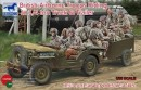 British AirborneTroops Riding In 1/4 Ton Truck &Trailer