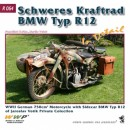 BMW R12 motorcycle in detail
